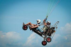 Полет на дельталете или паралете