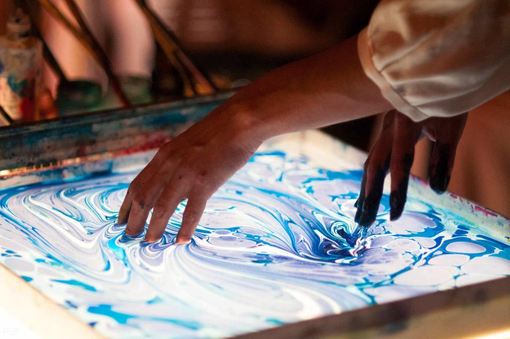 Мастер-класс по рисованию на воде «Эбру»
