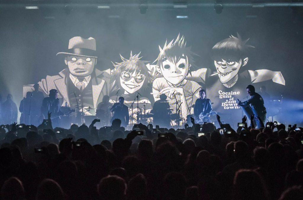 Концерт Gorillaz