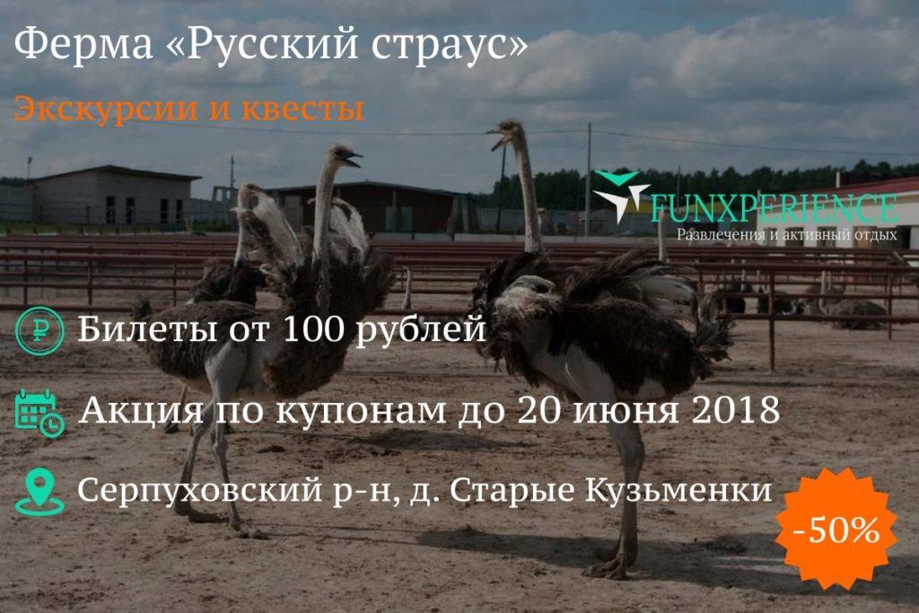 Купон на ферму «Русский страус»