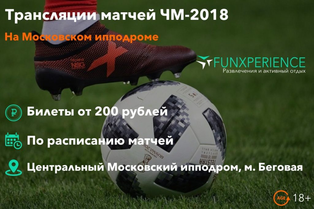 Билеты на трансляции матчей ЧМ-2018