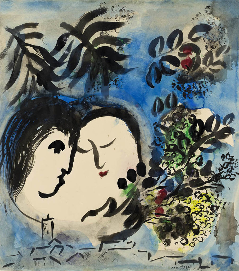 Романтическая выставка Марк Шагал. Любовники