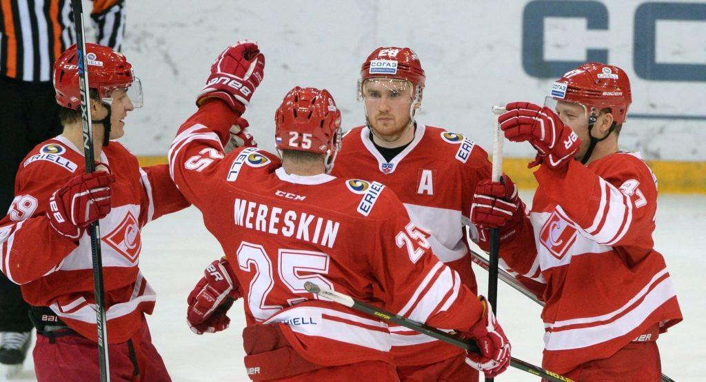 Хоккейный матч Спартак - Амур