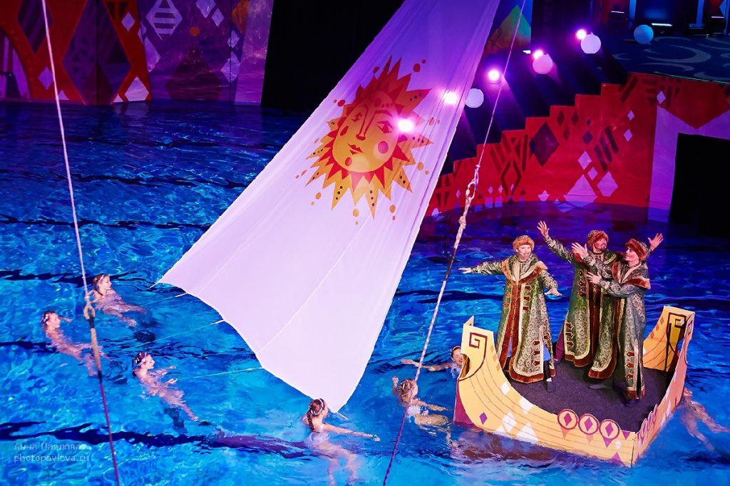 сказка о царе салтане шоу на воде