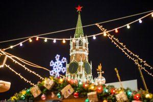 Новогодний «Поющий автобус» в Москве