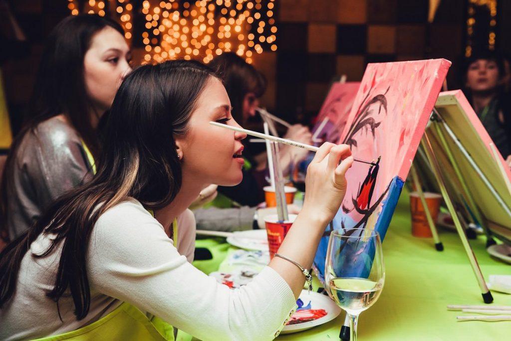 Посещение арт-вечеринки от проекта Art D'Vino